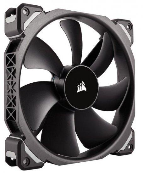 corsair ml120 pro 120mm premium magnetic levitation fan black