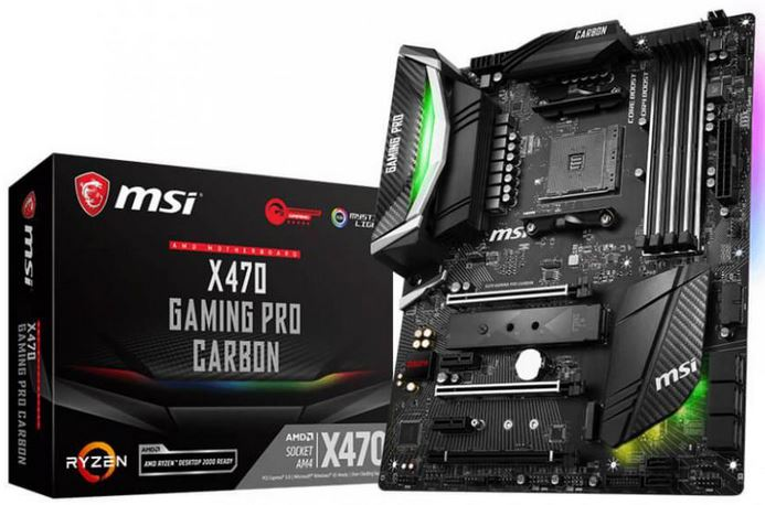 MSI X470 Gaming Pro Carbon X470 DDR4 AMD AM4 Ryzen ATX Motherboard