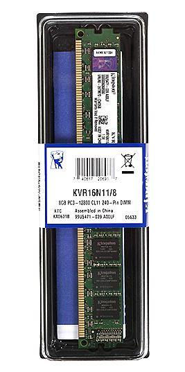 kingston 8gb 240 pin ddr3 desktop ram kvr16n118